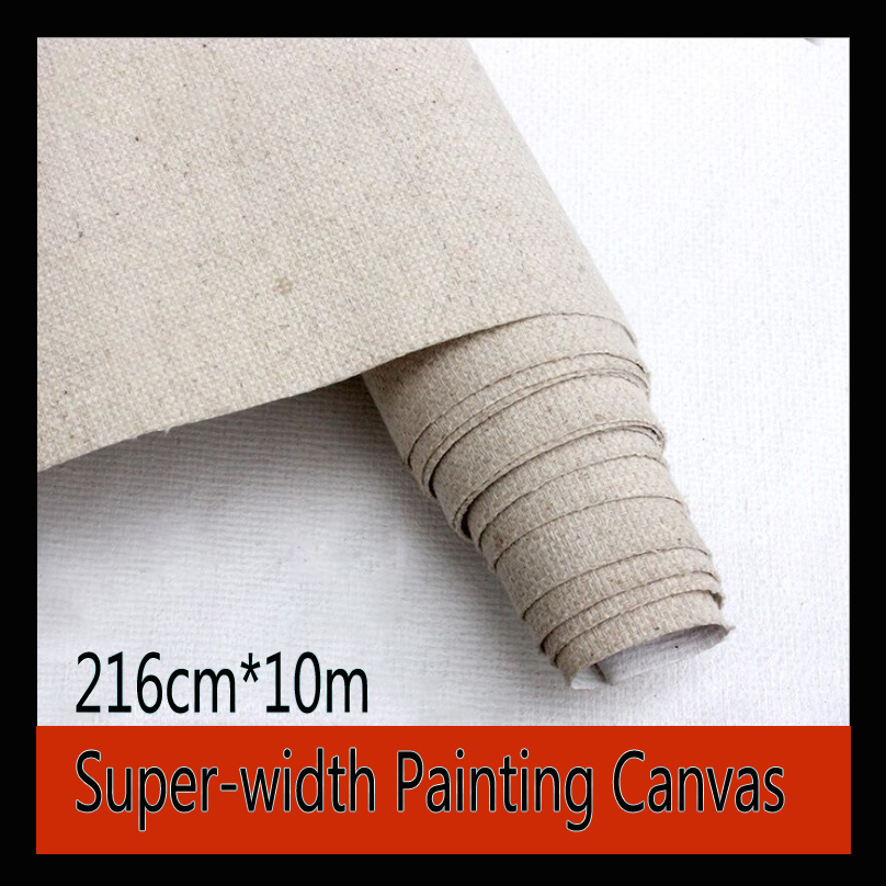 216cm super-width linen blend painting canvas cloth oil painting paper iarts aha072962 hand painted thick texture of knife painting trees oil painting red 60 x 40cm