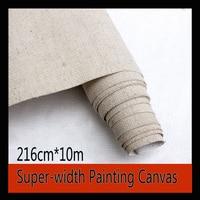 216cm super width linen blend painting canvas cloth oil painting paper