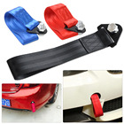 beler High Strength Racing Tow Towing Strap Bumper Hook Trailer 10,000 LB Rating For Acura Acura TSX Audi A6 R8 Honda Civic