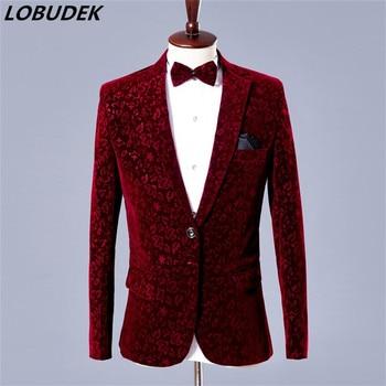 male jacket blazer singer dancer show DSmale costumes outerwear coat DJ jazz nightclub performance stage prom wedding dress
