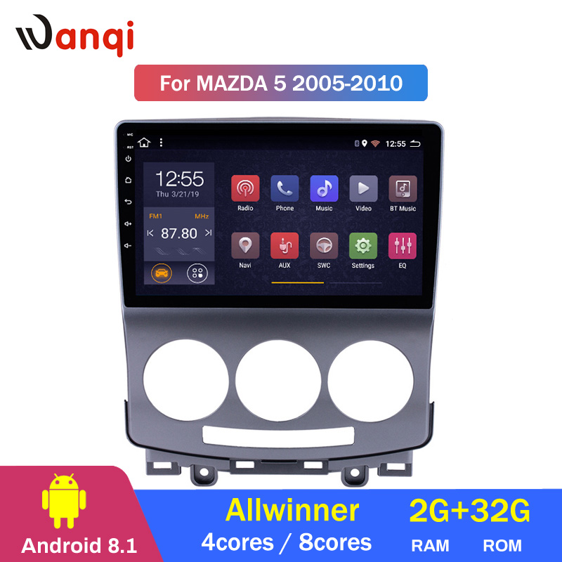 2G RAM 32G ROM Android 8.1 GPS Navigation Radio for 2005 2010 Old Mazda 5 Multimedia Player Bluetooth Phone SWC
