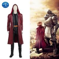 MANLUYUNXIAO Nowych mężczyzna Costumne Edward Elric Fullmetal Alchemist Cosplay Costume Cosplay Gry Japoński Wysokiej Jakości Custom Made