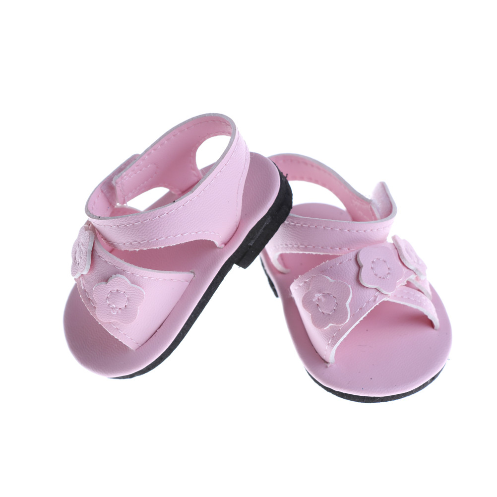 1 Pair 18 Inch For Girl Doll Shoes Summer Pink Shoes 43CM Doll Toy Accessories