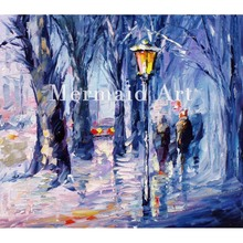 Hand Painted Landscape High Quality Abstract Palette Knife Snowing Emotions Oil Painting Canvas Decoration Living Room Artwork