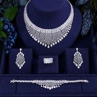 ACCKING роскошные свадебные кубического циркония Цепочки и ожерелья BraceletEarrings наборы для Для женщин Роскошные Дубай Африки камень CZ Наборы сва