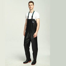 0.4mm PVC Fishing Waders 3000mm Waterproof Breathable Stocking Foot Chest Waders One-piece Fishing Clothing Unisex Fishing Wader