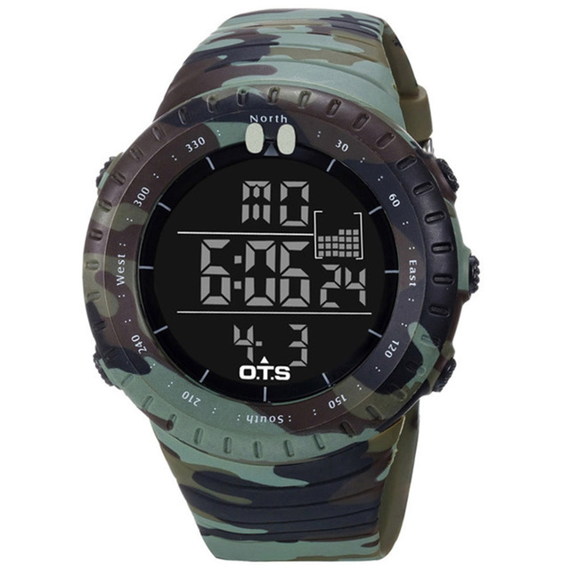 2019 Led Waterproof Sport Watch Fashion Casual Diving Sports Wristwatch Wholesale Military Electronic Digital Army Men Watches 3