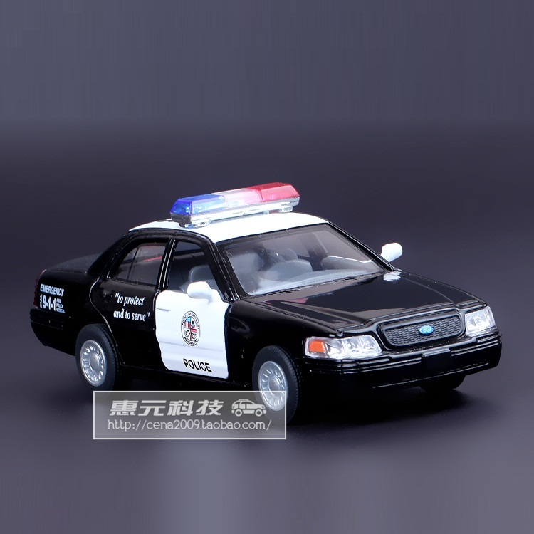 High Simulation Exquisite Diecasts&Toy Vehicles KiNSMART Car Styling Ford Crown Victoria Police Interceptor 1:42 Alloy Car Model