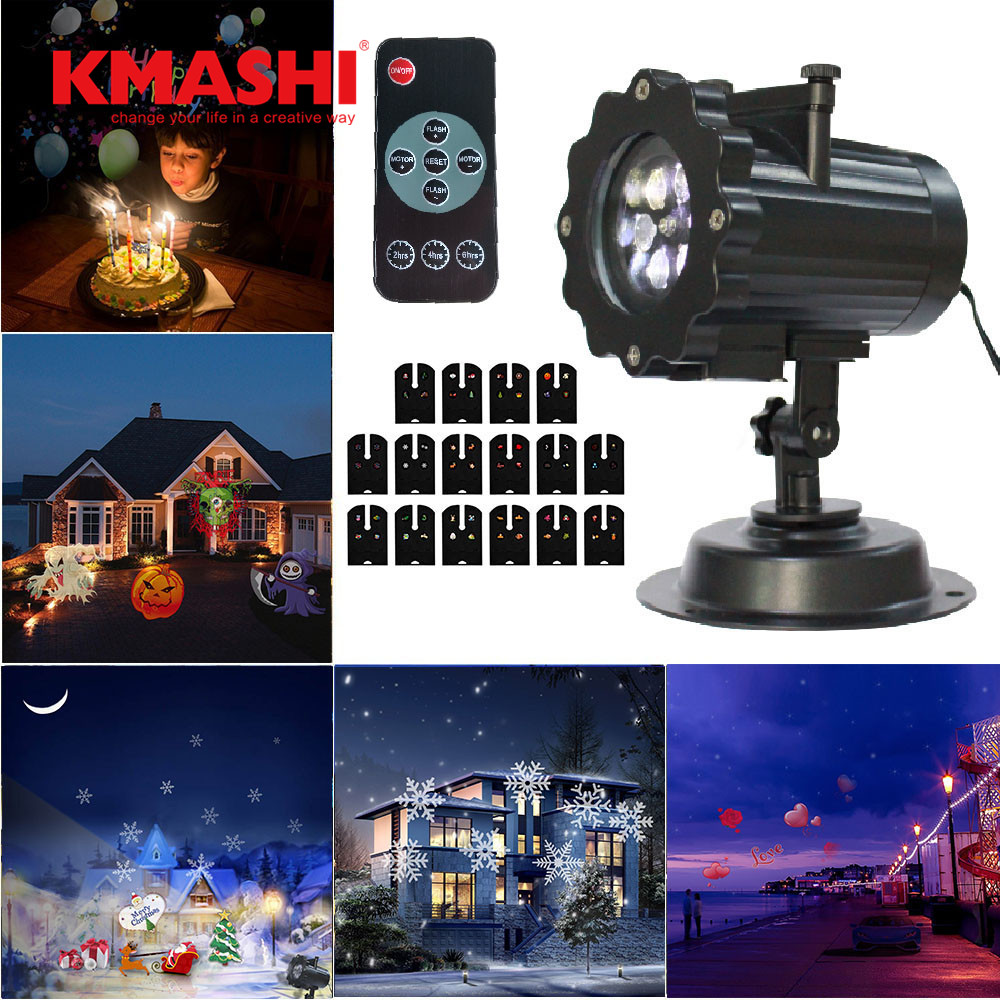 Kmashi 16 Replaceable Slides Night Lamp Led Projector