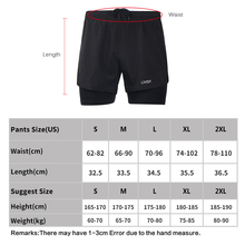 Men's 2 in 1 Running Shorts Mens Sports Shorts Quick Drying with Longer Liner