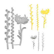 Naifumodo Flower Dies Branch Metal Cutting for Card Making Scrapbooking Embossing Cuts Stencil Craft New 2019