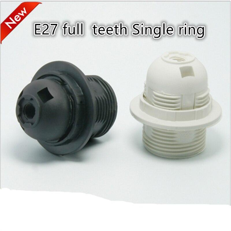 10pcs/lot E27 LED Plastic lamp Holder E27 Edison screw Light Bulb socket Holder DIY E27 socket base Free Shipping