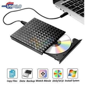 Image 1 - Nieuwe USB3.0 DVD ROM brander reliëf 3D diamant patroon externe DVD brander optische drive doos Desktop computer laptop universele
