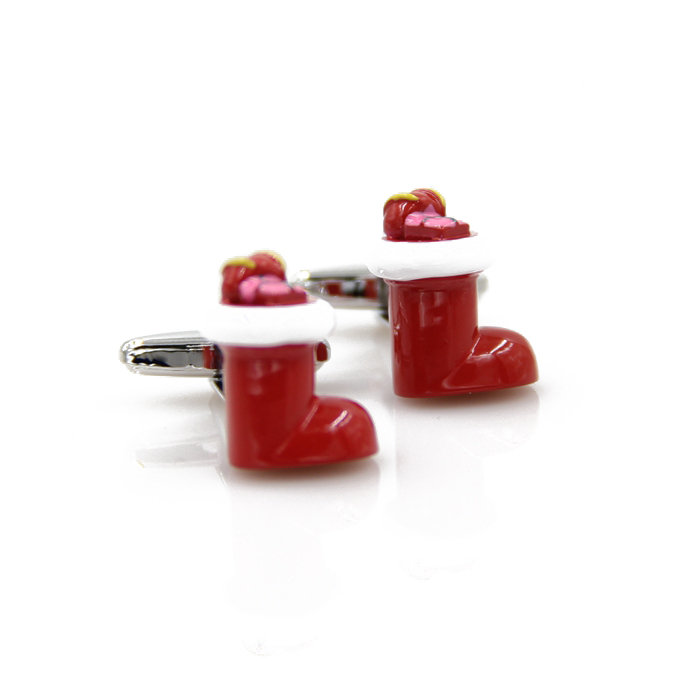 Christmas essential Cufflinks Cuff Links fun Christmas stocking cuff links other male and female children French Cufflinks
