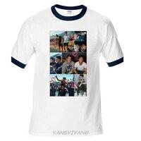 Dolan Twins Collage Men S White Tees Shirt Clothing Brand Man Top Tees Summer Ringer T