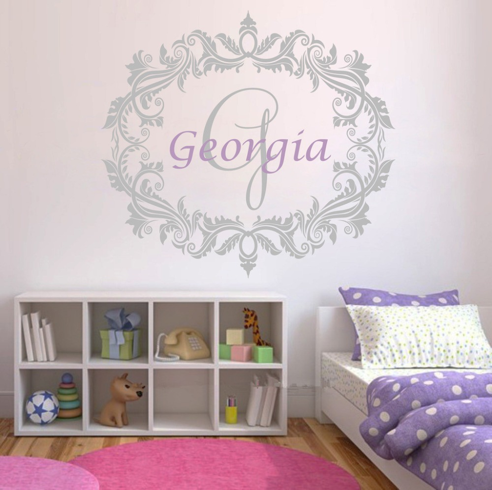 e134 personalized name wall stickers vinyl decal girls boys kids