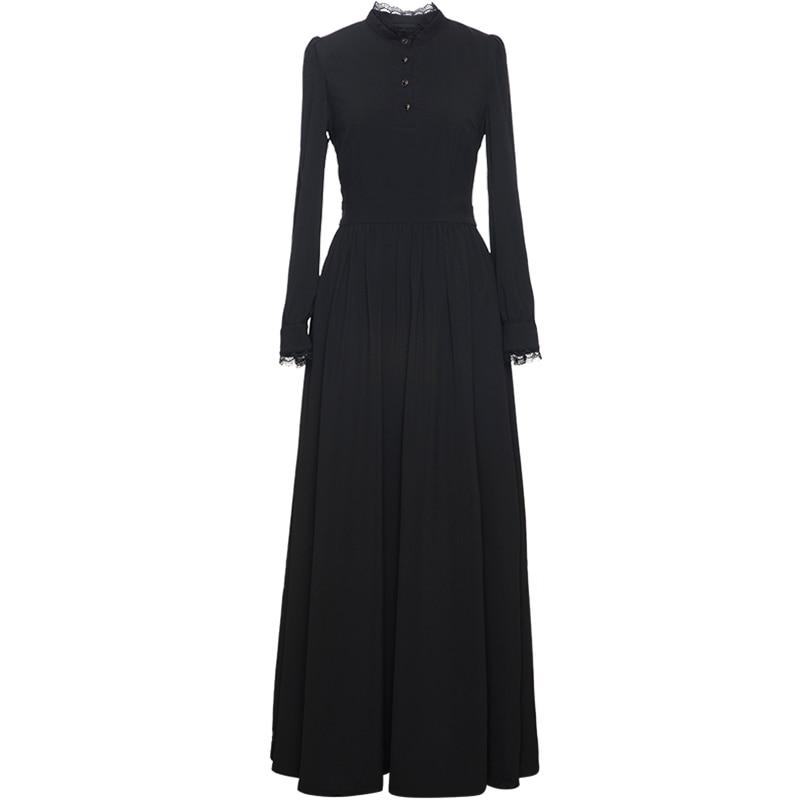 84a982d0d56 Noir-Longue-Robe-Nouveau-2019-Printemps-De-Mode-Longue-Partie-v-nement- Femmes-Dentelle-Patchwork-Manches.jpg