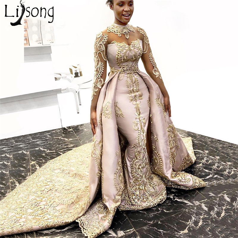 Robe De Soiree Muslim Evening   Dress   Islamic Dubai Kaftan Saudi Arabic Long Evening Gown Two Pieces   Prom     Dress   2019 Party   Dress