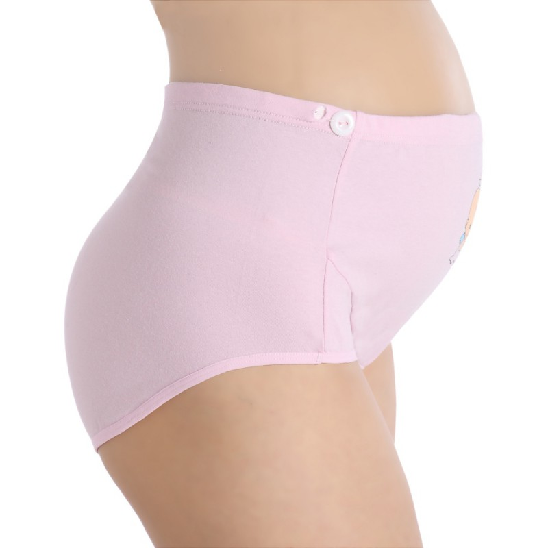 WEIXINBUY Cotton Pregnant Panties Mother Belly Support Underwear Cartoon Postpartum Briefs Pregnancy Short Pants