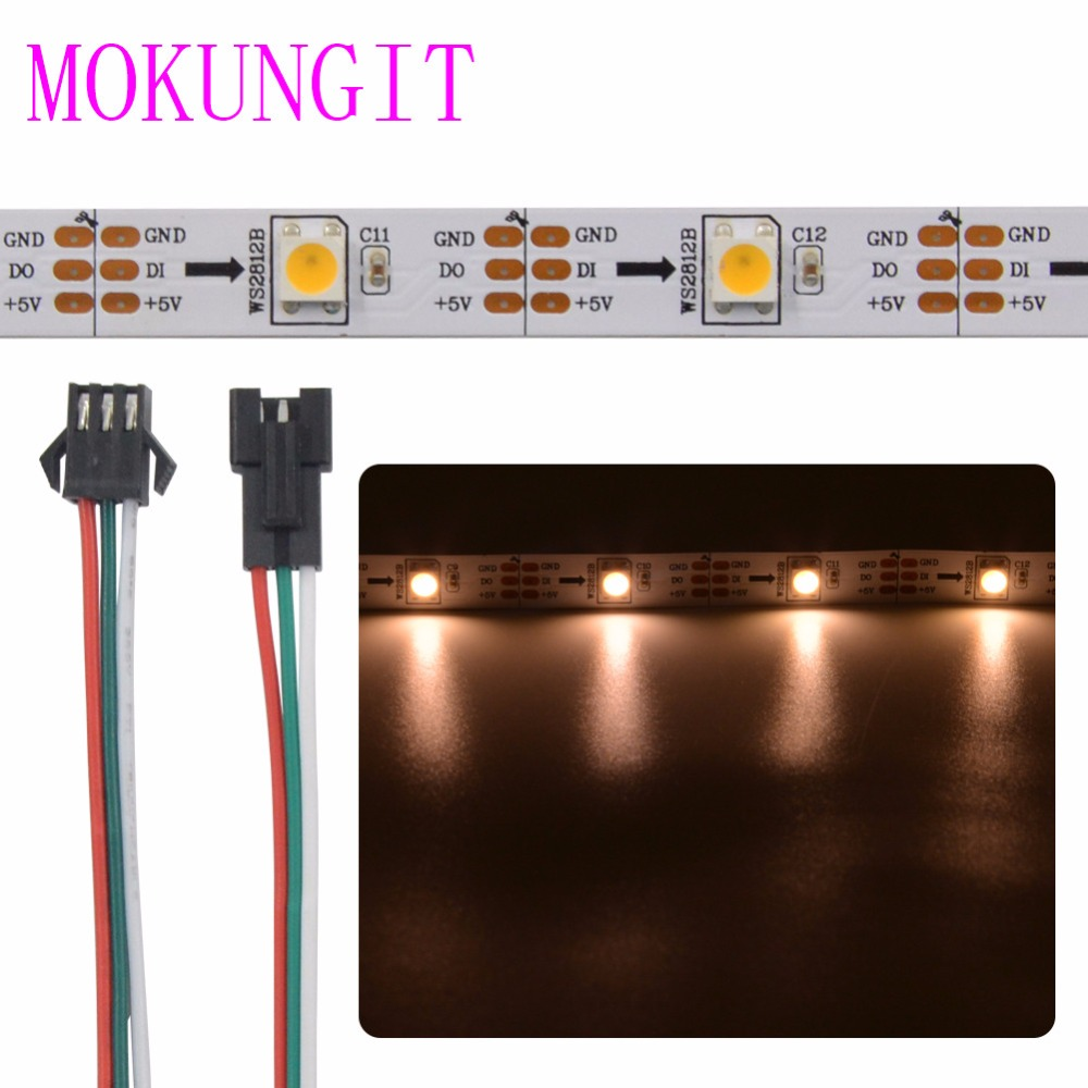 Addressable 5M 30LEDs/m 60LEDs/m DC5V SK6812 WS2812B Warm/Cool WHITE color led pixel strip IP30 IP65 IP67 5050  WHITE Black PCB чайник sinbo sk 7315 white