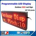 Бесплатная доставка красный цвет из светодиодов дисплей p10 из светодиодов 1 / 4 размер сканирования 40 * 104 см из светодиодов программируемый и прокрутки сообщения