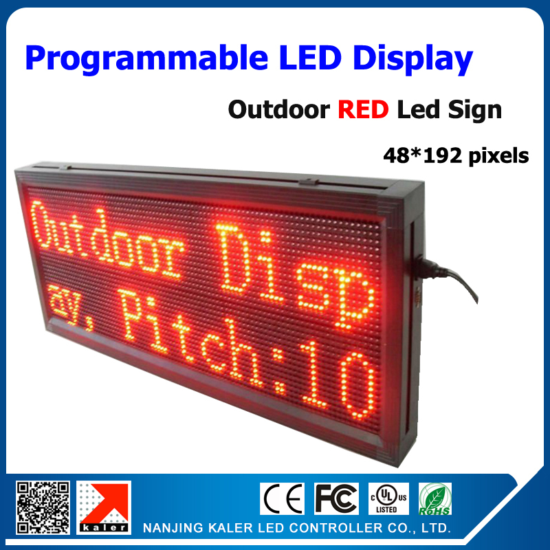 Free shipping outdoor red color led display p10 led 1/4scan size 40*104cm led screen programmable and scrolling messageFree shipping outdoor red color led display p10 led 1/4scan size 40*104cm led screen programmable and scrolling message