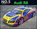 Большой 1:10 RC автомобилей высокоскоростной гоночный автомобиль 2.4 г R8 4 привод управления по радио спорт дрейф гоночный автомобиль модели электронная игрушка