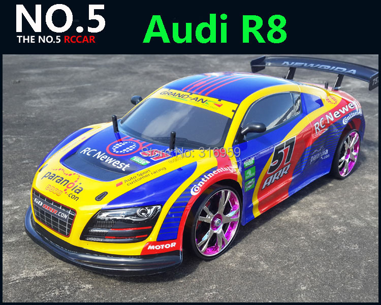 Large 1 10 RC Car High Speed Racing Car 2 4G R8 4 Wheel Drive Radio