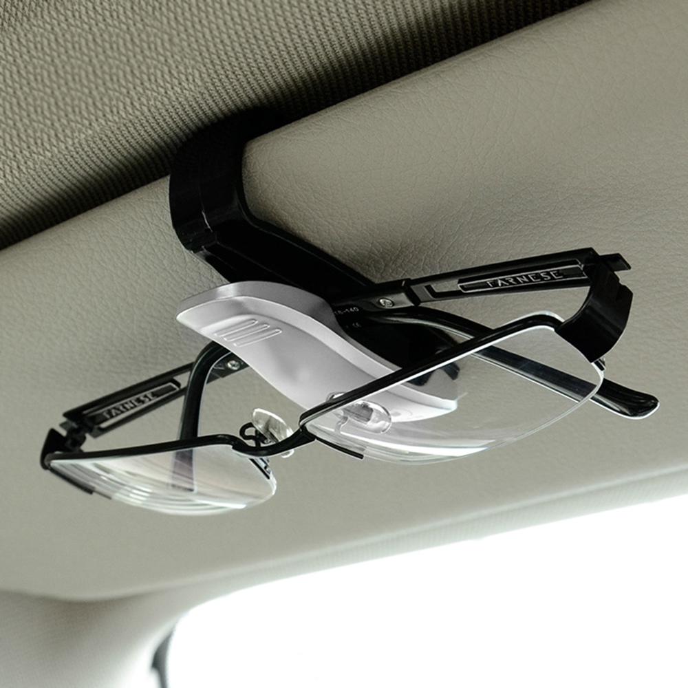 HTB19axVSpXXXXa6XFXXq6xXFXXXG - Eyeglasses Clip Car Sun Visor Sunglasses Holder Car Glasses Cases Fastener Cip Portable Ticket Card Clamp Car Styling ABS