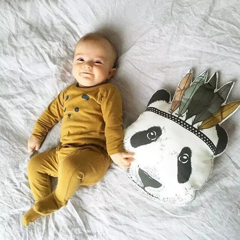 2018 INS Nordic Brand New Toddler Baby Infant Newborn Panda Pillow Cushion  Baby Bedroom Decor