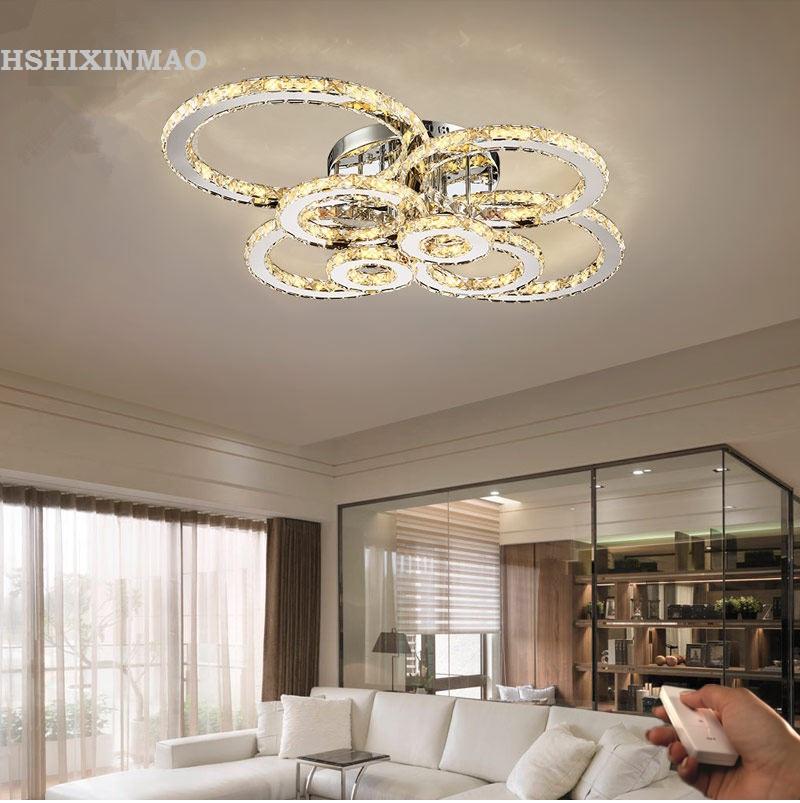 online get cheap moderne 6 ring kristall -aliexpress.com | alibaba ... - Moderne Deckenleuchten Fur Wohnzimmer