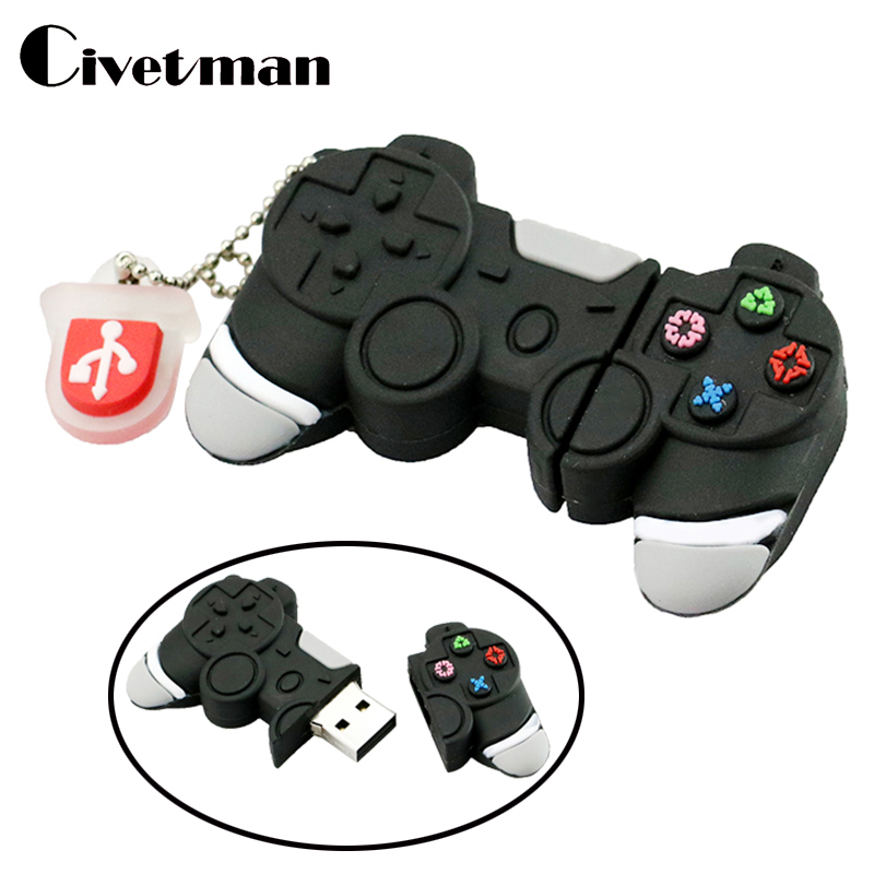 Cartoon PSP Gamepad USB Flash Drive 32GB USB Stick 64GB Pen Drive 8GB USB Flash 16GB Pendrive USB 2.0 Pendriver Memory Disk Gift