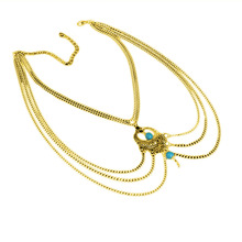 Girl Bijoux Women Summer Foot Jewelry Boho Gold Silver Turquoise Hollow Metal Beach Multi Chain Gypsy Anklet Feet Bracelet
