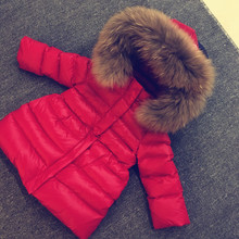 Children Outerwear Winter Jackets Coats Baby Girls Big Fur Clothes 2-12y Kids Fashion Down Jacket Windproof Outwear Snowsuit