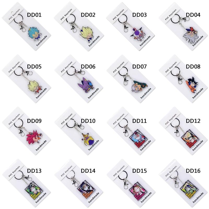 50 шт./лот, милый аниме брелок для ключей, акриловый брелок, высокое качество, на заказ, Chibi мультяшный кулон, аксессуары для ключей - 5