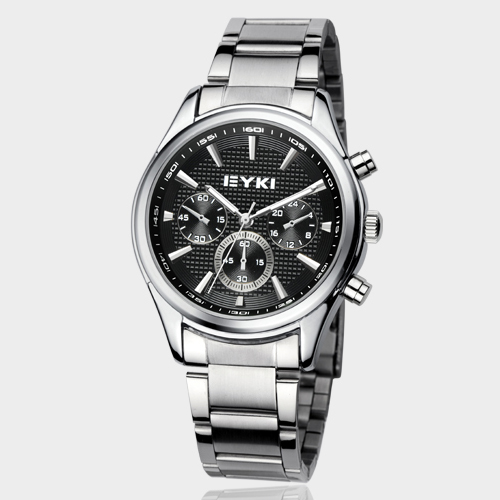 New Eyki Brand Couple Watches Tables Fashion Formal Stainless Steel Strap Waterproof  Quartz Watch Ladies Mens