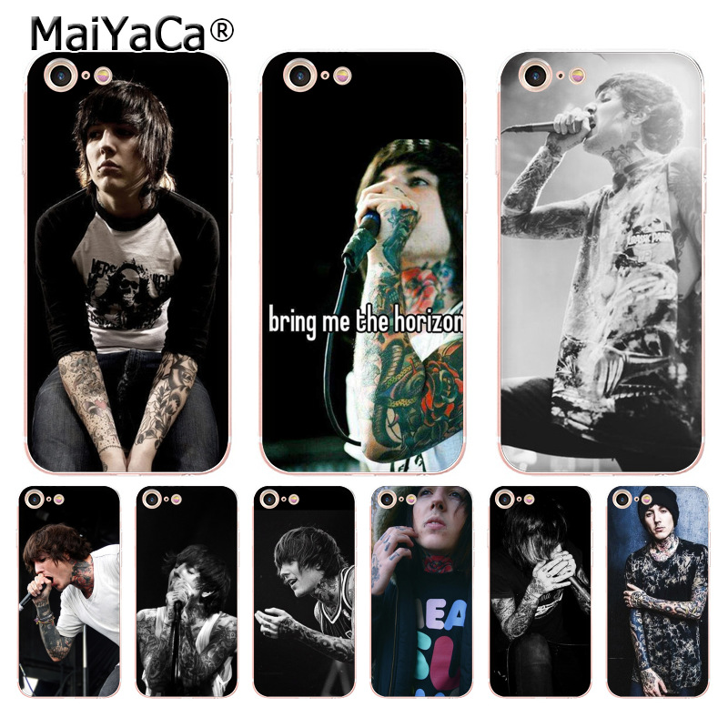 MaiYaCa Oliver Sykes Bring Me the Horizon bmth Luxury Cool phone Case for iPhone 8 7