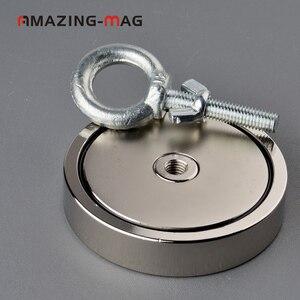 500 кг Большой сильный магнит рыболовный спасательный неодимовый магнит D97 * 20 мм Охотник за сокровищами Imanes магнитный материал мощное основа...
