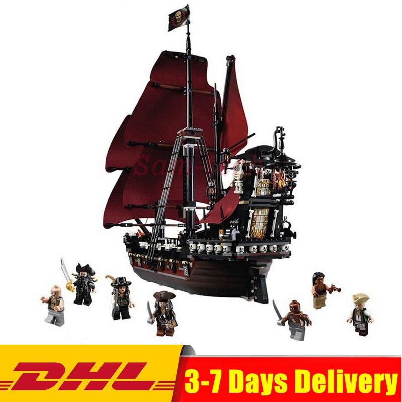 Compatible avec Legoinglys 4195 Reine Anne Vengeance de Pirates des Caraïbes Le Bateau Building Block Set Éducatifs D'anniversaire Jouet