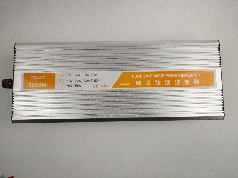 dual digital display 3000W dc24V TO ac220V Pure Sine Wave Power Inverter 1500w solar off grid pure sine wave power inverter dc24v to ac220v 50hz peak 3000w dual digital display