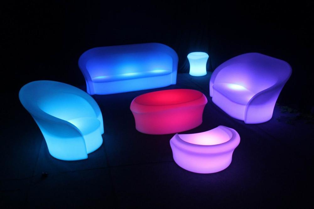 1 St * Uppladdningsbar IR fjärrstyrd multicolor RGB LED under - Nattlampor - Foto 2