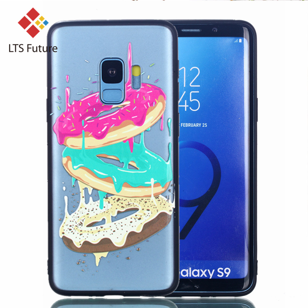 Reliefs Colorful Phone Shell For Samsung Galaxy S9 Plus Case Elegant Oil Painting Pattern S9 s9plus Back Cover Soft Capa Protect