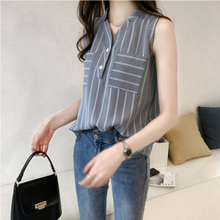 2018 Women's  Tunic Shirt summer blouses Large size Stripe shirt Gloria   stripe shirts Top Female