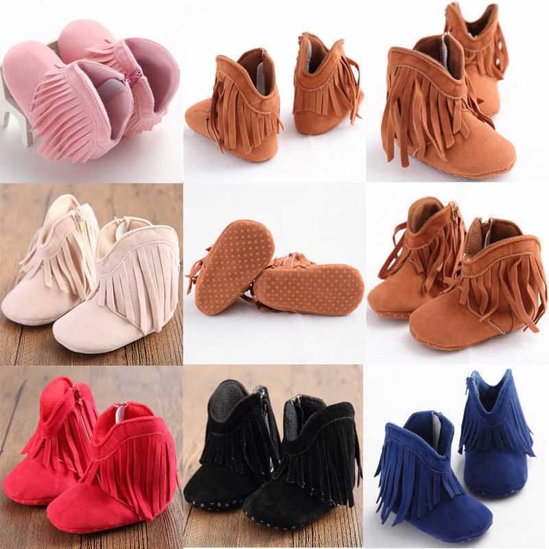 a69249984eb Toddler Infant Moccasin Newborn Baby Girl Boys Shoes Soft Sole Booties  Prewalker