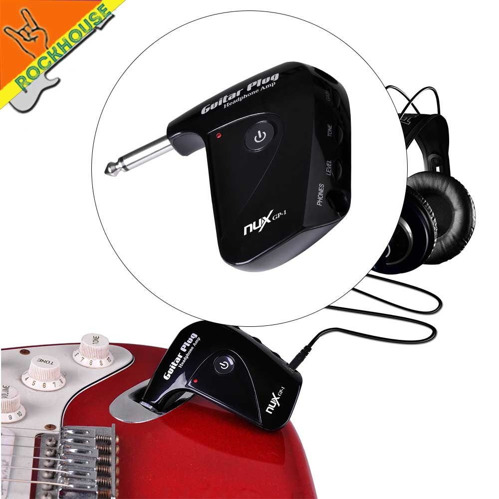 nux gp 1 electric guitar pocket amplifier guitar headphone amp portable distortion pedal. Black Bedroom Furniture Sets. Home Design Ideas