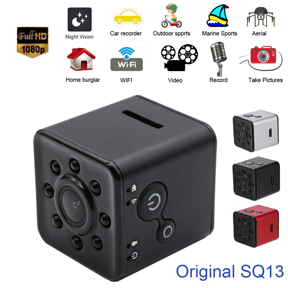 Original Mini Cam WIFI Kamera SQ13 SQ11 SQ12 VOLLE HD 1080 p Nachtsicht Wasserdichte shell CMOS Sensor Recorder Camcorder micro