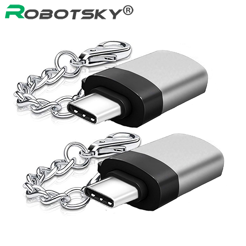USB-C USB 3.1 Type C Male To USB 3.0 Female Converter Adapter With Anti-Lost Key Chain For Samsung Galaxy S8 S9 Huawei P20 LG micro usb 2 0 otg cable adapter elp male micro usb to female usb for samsung lg sony htc android smartphone with otg function