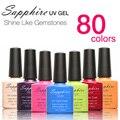 Sapphire 1 sheet  Sapphire Nail Gel Newest 80 Fashion UV Gel Polish 7.3 ML #001-030