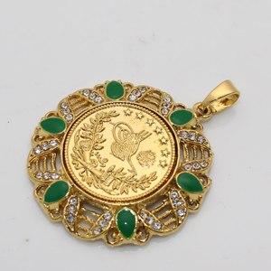 Image 3 - イスラム教徒のトルココインアラブコインペンダントネックレスをドロップ無料