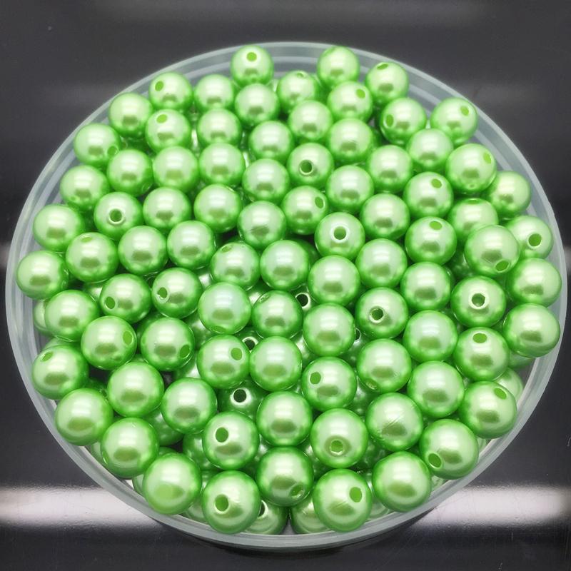4 6 8 10 мм имитация жемчуга акриловые круглые жемчужные бусины DIY ювелирных изделий ожерелье браслет серьги аксессуары